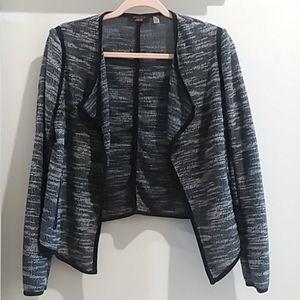 Fylo London dressy flowy knit collared blazer pt